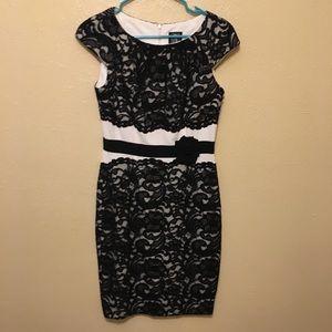 White and Black Lace Jax Dress